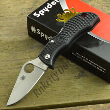 Spyderco Manbug Black FRN VG-10 Plain Edge Lightweight Folding Knife MBKP