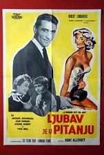 L'AMOUR EST EN JEU FRENCH SEXY ANNIE GIRARDOT 1957 LAMOUREUX EXYU MOVIE POSTER