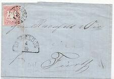 """15 / 3 Kreuzer auf Brief von OTTENSOOS  oMR """"806"""" + HKS OTTENSOOS 4/10  n. Fürth"""