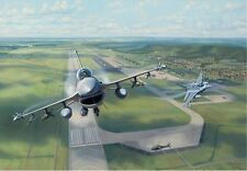 """Volk Field Falcons"" Jim Laurier Limited Edition Print - F-16C Falcons 176th FS"