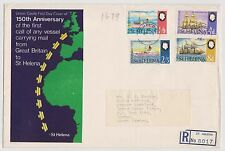 (RT16) 1962 St Helena FDC ship mail plus Registration