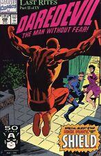 Daredevil #298 Near Mint (Vol 1 1963) Last Rites Story Nick Fury Of Shield App