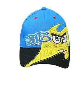 NWT SpongeBob Squarepants Adjustable Kids Baseball Cap Hat Blue Color Licensed