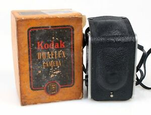KODAK DUAFLEX 620MM FILM CAMERA W/ PLASTIC FRONT COVER IN ORIG. BOX