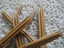 """patina color 15x5 6""""  bamboo Knitting needle double pointed US 0-15 (75 needles)"""