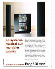 PUBLICITE ADVERTISING  1994   BANG & OLUFSEN  Hi-fi système musical