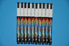 10 x WHITE Neon Liquid Chalk Pen for Board and Glass Sign (NIB 3MM) Dry Wipe