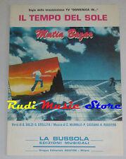 MATIA BAZAR Il tempo del sole 1980 RARO SPARTITO SINGOLO BUSSOLA cd lp dvd mc