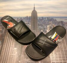 3831b1c129f3 Nike Benassi JDI LTD Slide Sandal Interchangeable Swoosh Size 15 AQ8614 001  New