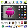 """Quad Core Android 7.1 3G WiFi 7"""" Double 2DIN Car GPS FM Radio Stereo MP5 Player"""