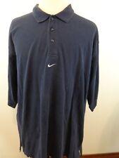 NIKE Men S/S Polo Shirt Sz XXL Navy Blue