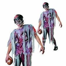 Adult Zombie American Footballer End Zone Halloween Horror Fancy Dress Costume