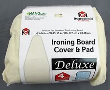 Household Essentials Deluxe Ironing Board Cover & Pad - Natural w/ NanoMax Coat