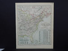 Antique Map, Lett's, 1883 S1#1 United States, Virginia, New York, Florida