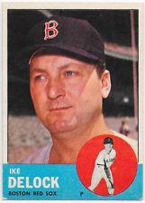 1963 Topps #136 Ike Delock - Boston Red Sox (EX)