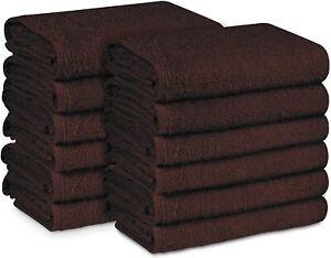 100% Cotton Salon Towel Hand Towels Gym Nail Makeup Removal Towels (12 Pieces)