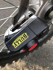 Motorcycle Brake Billet HD Steel Disc Lock Alarm 110 db Bully Locks Street Bike