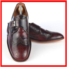 London Brogues Gatsby Mens Dark Brown Red Leather Shoes Size UK 8 Brogue Formal