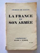 LA FRANCE ET SON ARMEE 1944 CHARLES DE GAULLE PRESENCES