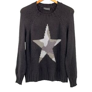 Wooden Ships Black Camo Star Mohair Blend Crew Neck Sweater Size S/M
