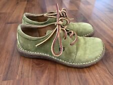 Womens Size 6 36.5 Born Moss Green Laceup Casual Shoes Low Top