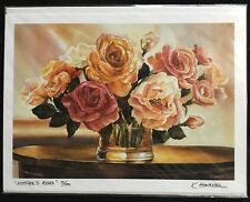 """Karen Honaker """"Mother's Roses"""" Limited Edition 13/100 Print Signed Authenticated"""