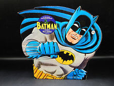vintage 60s BATMAN 45 rpm record w/ diecut picture sleeve PS 1966 UNUSED 7 inch