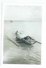 Small boat or Sciff in water during WWII photo COPY near Phillipines