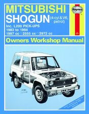 Haynes Owners Workshop Manual Mitsubishi Pajero Triton L200 (1983-1994) REPAIR