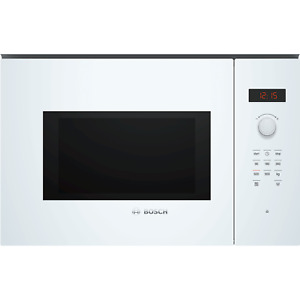 Bosch BFL553MW0B Serie 4 900W 25L Built-in Microwave Oven - White