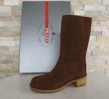 Prada Stiefel Gr 39,5 boots Schuhe shoes 3U5901 Stiefeletten braun NEU UVP 590 €