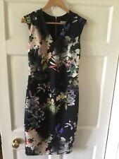 coast dress size 12 short sleeves floral