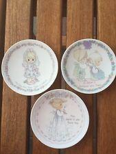 Precious Moments Mini Plates (3 Plates - Girl)