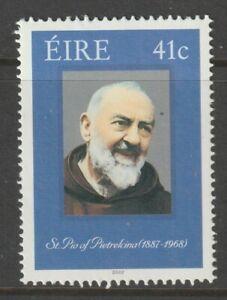 Ireland 2002 #1416 Canonization of St. Pio of Pietrelcina (1887-1968) - MNH