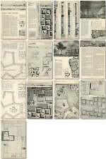 1959 Churchill College Competition Schemes, Richard Sheppard Robson