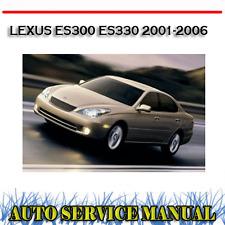LEXUS ES300 ES330 2001-2006 WORKSHOP SERVICE REPAIR MANUAL ~ DVD
