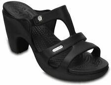 crocs Absatzsandale Cyprus V Heel Women Schwarz / Schwarz Croslite Normal Damen