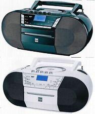 Dual DAB-P200 Portable DAB+ Boombox mit Kassettenradio mit CD MP3 USB CD-Player