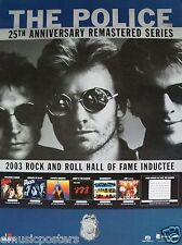 "The Police (Sting) ""25th Anniversary Series / 2003 R&R Hall Of Fame"" Poster"