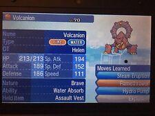 Pokemon Sun Moon 6IV Event Helen Volcanion Pokemon Guide with Assault Vest