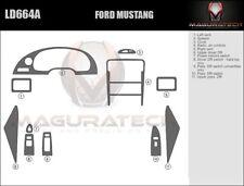 Fits Ford Mustang 1994-2000 Large Wood Dash Trim Kit