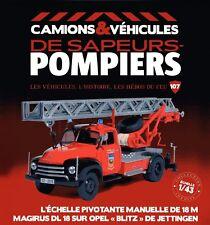 1/43 IXO - CAMION  POMPIERS  - OPEL BLITZ ECHELLE 18 m PIVOTANTE MANUELLE