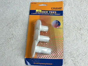 Champ Rubber Golf Tees for Hitting Mat 3 Sizes for Accurate Ball Height NEW
