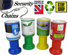 Bulk Charity Donation Collection Money Tin Pot Box Fundraising Chains / Stickers