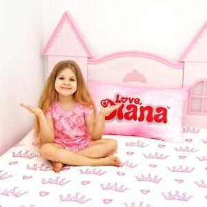Girls Pink Love, Diana 'Crown' Single Reversible Duvet Set With Pillowcase
