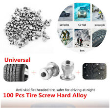 100pcs Winter Car Snow Spikes Wheel Tyre Tires Studs Screw Anti-skid Snow Chains