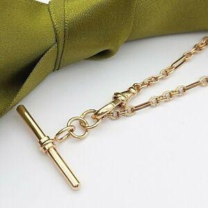 Ladies 9ct (375, 9K) Rose Gold T-Bar Bracelet