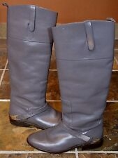 GOLDEN GOOSE CELEBS WEAR Gray Leather Charlye Riding Boots Sz. 36/6(M) $1298