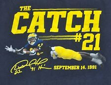 Michigan Wolverines Football Desmond Howard The Catch # 21 Small Tee Go Blue !