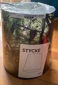 Ikea Stycke 34cm/13in Lampshade With Green Forest Photo Print. NEW IN PLASTIC